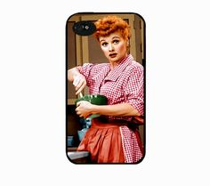 Iphone 4 case Lucille Ball I love lucy by IphoneDesign on Etsy,