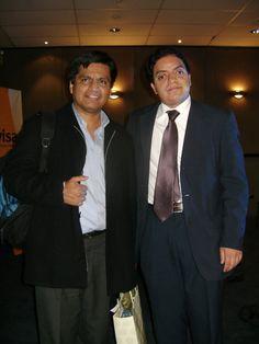 Juan Carlos Luján y Freddie Armando Romero en el Seminario de Comunicación Digital 2010 en el Business Tower Lima Hotel.  Juan Carlos Luján es consultor en comunicación y relaciones públicas para la Agencia de Comunicaciones de Google en el Perú at Medios Milenium.