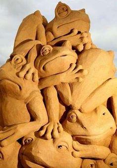 Froggin' ~ Sand Sculpture