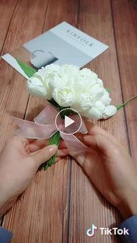 Beautiful And Simple Snow Droplets Get To Know Receipt Paper Flowers Diy Crepe Paper Flowers Diy Paper Flowers