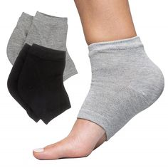 Nov 2019 - ZenToes Moisturizing Heel Socks 2 Pairs Gel Lined Toeless Spa Socks to Heal and Treat Dry, Cracked Heels While You Sleep (Cotton, Black and Gray), Adult Unisex Dry Cracked Heels, Cracked Skin, Cracked Feet, Dry Heels, Socks And Heels, Black Socks, Toeless Socks, Gel Socks, Heel Balm