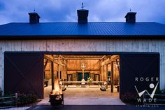 I want this barn for entertaining!  You could even add bunkrooms!