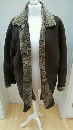 True Vintage Winterjacke Lederjacke in oversizeoptik Vintage