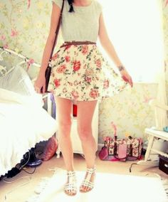 Pretty floral outfit