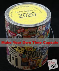 Are you wanting to preserve memories for a time capsule? Have no fear! The Diva of DIY, Leanne Lee, shares her ideas on how to create a time capsule!
