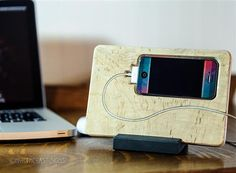 iPhone 4 4s 5 Docking station  in  Maple by NorthCoastSign on Etsy, $29.00