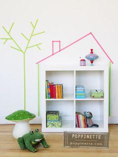 My Washi Tape- bookshelf house