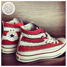 Custom USA Studded Chucks!