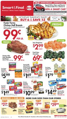 Smart and final weekly ad november 30 december 6 2016 http www