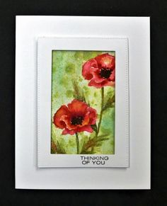 CAS439 TLC648 Poppies by hobbydujour - Cards and Paper Crafts at Splitcoaststampers