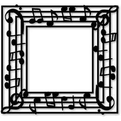 Silhouette Design Store: frame music - square