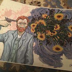 Bahar Dalları'nın hatrına beni biraz sevmedin ya, Van Gogh kafasına sıktı sevgilim. Yüzlerini sana durmadan dönen Günebakanlar saçıldı etrafa Sen beni hiç sevmedin. .. Bunu bilmenin ağırlığıyla Bilmem kaç kez Yığıldı bir kalabalık caddeye Kimsesiz gövdem. .. Yine de lütfen artık Bana öyle bakma. . - Ne olur bakma. . Çünkü birazdan artık dayanamayıp Çene kemiğimden sokup matkabı Şakağına dayayacağım. . - Şakaklarındaki beyazlar benim eserim değil sevgilim. . (Bana öyle bakma. Lütfen artık…