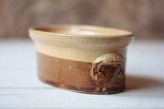 Medium Antique French Stoneware Terrine, Pottery Pate Dish by FarmGateVintage on Etsy
