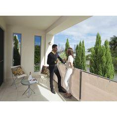 CLÔTURE - GRILLAGE Brise vue pour balcon 500 x H.90 cm Sable