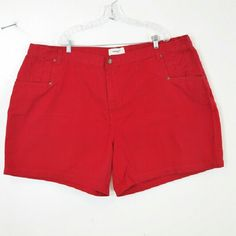 Bridewater Studio Red Demin Jean Shorts Size 32W The waist is 51 inches around  & the length is 23 inches. Bridgewater Studio  Shorts Jean Shorts