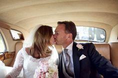 Geri Halliwell and Christian Horner during their wedding at St Marys Woburn Parish Church