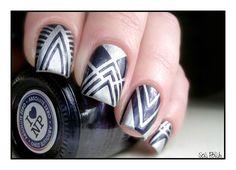 #CopycatDay - Mamanvernie et son nail art graphique ! - Sois Polish...