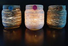 Upcycled Baby Food Jar Votive Holders by WeeLittleSweets on Etsy, $9.00