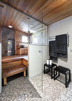 sauna/kylpy Decor, Furniture, Wood, Home, Bath, Table, Sauna, Inspiration
