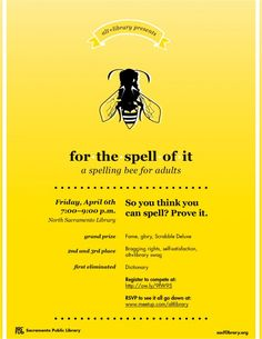 Spelling Bee for adults (Sacramento PL)