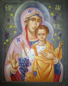 Καλωσορίσατε Mary And Jesus, Writing Icon, Christian Artwork, Art Projects, Painting, Orthodox Christian Icons, Christ Child, Art, Christian Art