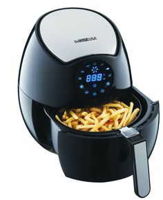 """Promising review: """"I couldn't believe that is machine would fry without oil and food would come out crispy. Boy, was I wrong. This air fryer is fantastic, and all the foods that I have prepared in this thing have come out very, very delicious. My hamburgers come out nice and juicy, and the fries come out nice and crispy, and not limp. I have made cheese sticks and also shrimp, and they come out crispy and delicious. I don't have to use any oil when I use this, and that makes me very happy…"""