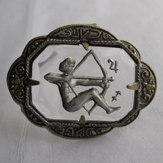 Art Deco Sagittarius brooch
