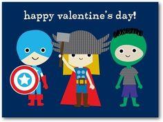 Superhero Valentine's Day Cards for Kids Artistic Avenge