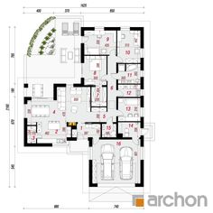 Dom w lonicerach Bungalow, House Plans, Floor Plans, Houses, Flooring, How To Plan, Inspiration, Log Projects, Home