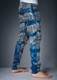 Jeans painted by Johny Dar using Jacquard Lumiere 3D paints