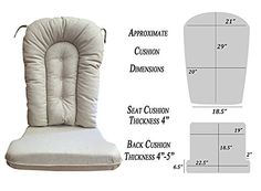 Glider Rocker Replacement Cushion Set, Natural Fabric *** To view further for this item, visit the image link.