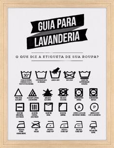 Para não estragar mais roupas! Quadro Guia para Lavanderia por On The Wall https://www.onthewall.com.br/guia-para-lavanderia-2 #quadro #lavanderia #dicas #roupas