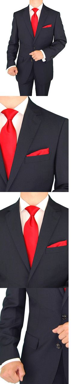 Suits 3001: Gino Valentino Men S Two Button Modern Striped Suit -> BUY IT NOW ONLY: $152.99 on eBay!