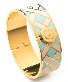 Another great find on #zulily! Gold & Blue Madison Bangle #zulilyfinds