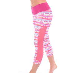 Printed Mesh Workout Leggings Made in USA