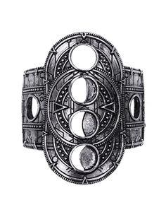 Restyle Gothic Hollow Moon Bracelet