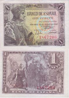 Billete 1 peseta 1943-Madrid
