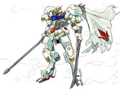 GUNDAM GUY: Gundam Digital Artwork: Gundam Barbatos [Updated 11/8/15]