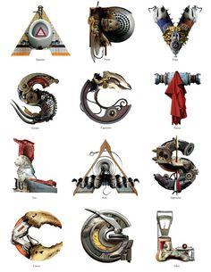 Typographer Viktor Koen's object alphabets