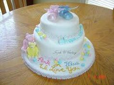 Baby Shower Cake — Boy and Girl or You Don't know or Even Surprise with the Middle of Cake to Surprise.
