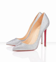 Christian Louboutin - 120mm - Silver Pigalle. I'm not sure which would suit me better for my wedding day, this or...?