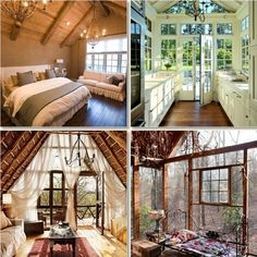 I like the bottom two rooms, especially the bedroom on the right with all the light. To feel like you are living in the trees - beautiful.