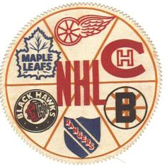 The Original Going in a clockwise pattern. Detroit Red Wings, Montreal Canadiens Boston Bruins New York Rangers Chicago Black Hawks Toronto Maple Leafs Rangers Hockey, Blackhawks Hockey, Chicago Blackhawks, Hockey Goalie, Hockey Room, Hockey Baby, Hockey Decor, Hockey Games, Hockey Players