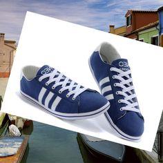 Adidas Originals Stile NEO Uomini Scarpe Blu/Bianco