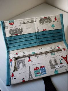 artchala handmade: Wallets I love this Parisian fabric!artchala handmade: Welcome to Paris Long Wallet .cheap fake designer handbag online shop,wholesale designer handbags from china=== S t o c k === - one ready stock. : x folded Total of 11 pockets Sewing Hacks, Sewing Tutorials, Sewing Crafts, Sewing Projects, Tape Crafts, Sew Wallet, Fabric Wallet, Cash Wallet, Passport Wallet