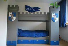 Diy castle bed for boys room