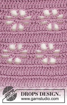 """Daisy Chain"" by Drops Design - Top w/round yoke, crocheted from top down - free crochet pattern - Size: S - XXXL Pull Crochet, Crochet Diy, Crochet Motifs, Crochet Diagram, Crochet Stitches Patterns, Crochet Chart, Lace Patterns, Knitting Patterns Free, Scarf Patterns"