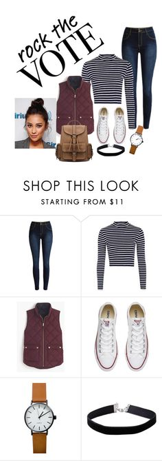 """""""Sin título #8"""" by paolasuazor ❤ liked on Polyvore featuring Topshop, J.Crew, Converse and Miss Selfridge"""