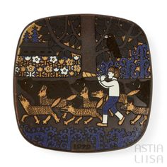 Arabia Kalevala 1979 Annual Plate, designed by Raija Uosikkinen. Find out more about Nordic vintage from Finland on our website 🔎 www.astialiisa.com⠀ 🌍 Free shipping on orders over 50 €!  #raijauosikkinen #arabia #arabiafinland #scandinavianvintage  #finnishvintage #nordicvintagehome #finnishhomes #nordichome #nordichomes #nordicdishes #nordicvintage #vintagedishes #retrodishes #uosikkinen #Finnishdesign #retrocups #coffeecup #Scandinaviandesign