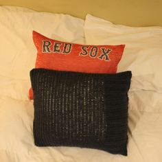 Upcycled RedSox pillows AnnaNimmity.com
